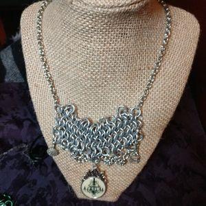 Chandelier chainmail Bib necklace OOAK handmade